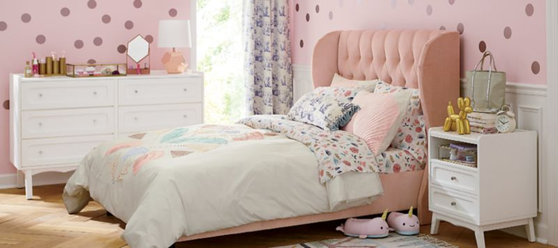 girls bedroom inspiration crate and barrelpolka dot girl bedroom