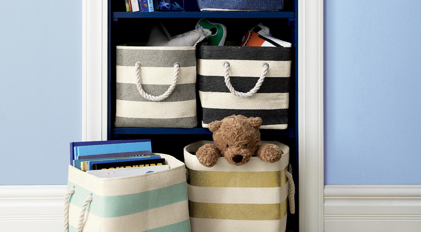 baby kids storage room and playroom crate and barrel. Black Bedroom Furniture Sets. Home Design Ideas