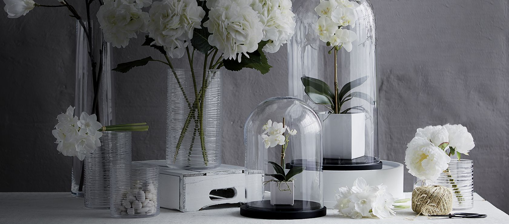Home Accessories Breathe New Life Into Your Space With An Abundance Of Fresh White Botanicals And Greenery