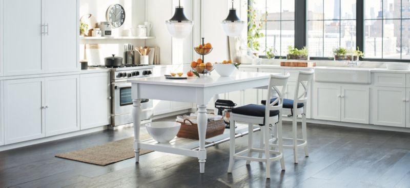 Classic White Kitchen: Avalon. Avalon Kitchen Island