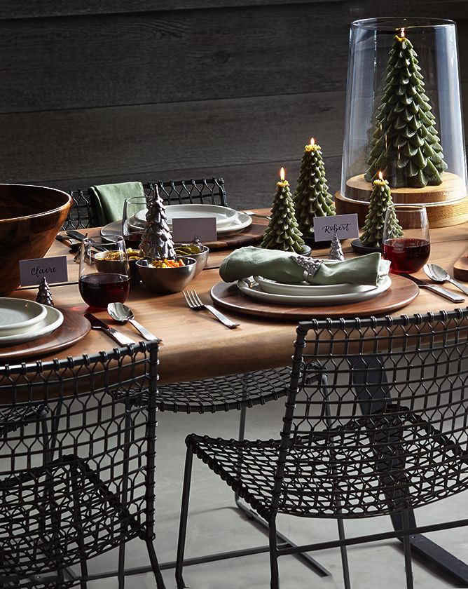 Rustic Holiday Table | Crate and Barrel