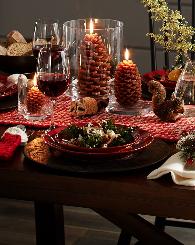 Pinecone Table Decor | Crate and Barrel