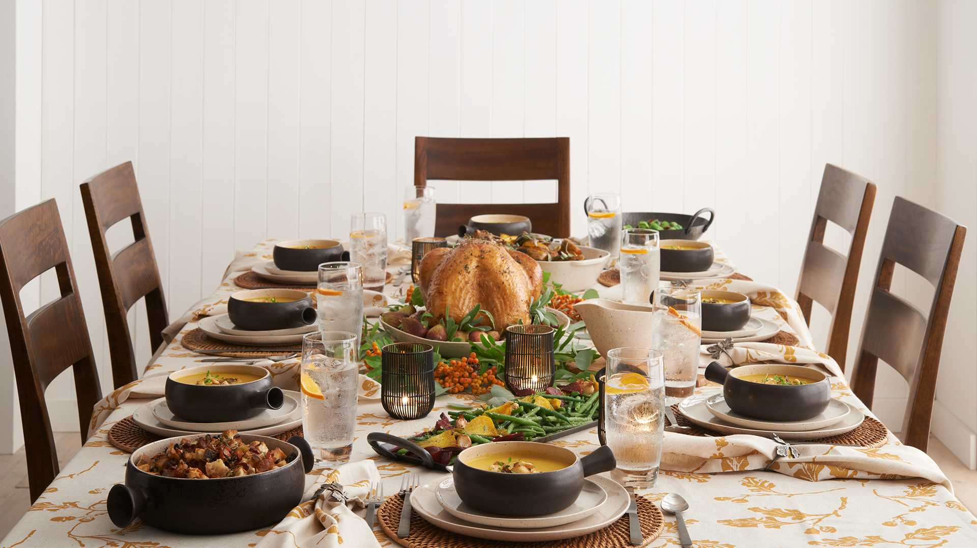 thanksgiving dinnerware decorations crate and barrel. Black Bedroom Furniture Sets. Home Design Ideas