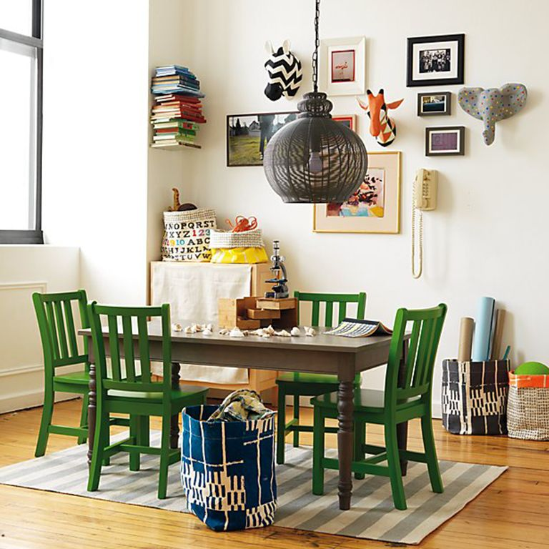 Sensational Dining Room Playroom Combo Crate And Barrel Machost Co Dining Chair Design Ideas Machostcouk