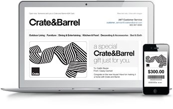 Gift Cards  Buy Online and Check Balance | Crate and Barrel