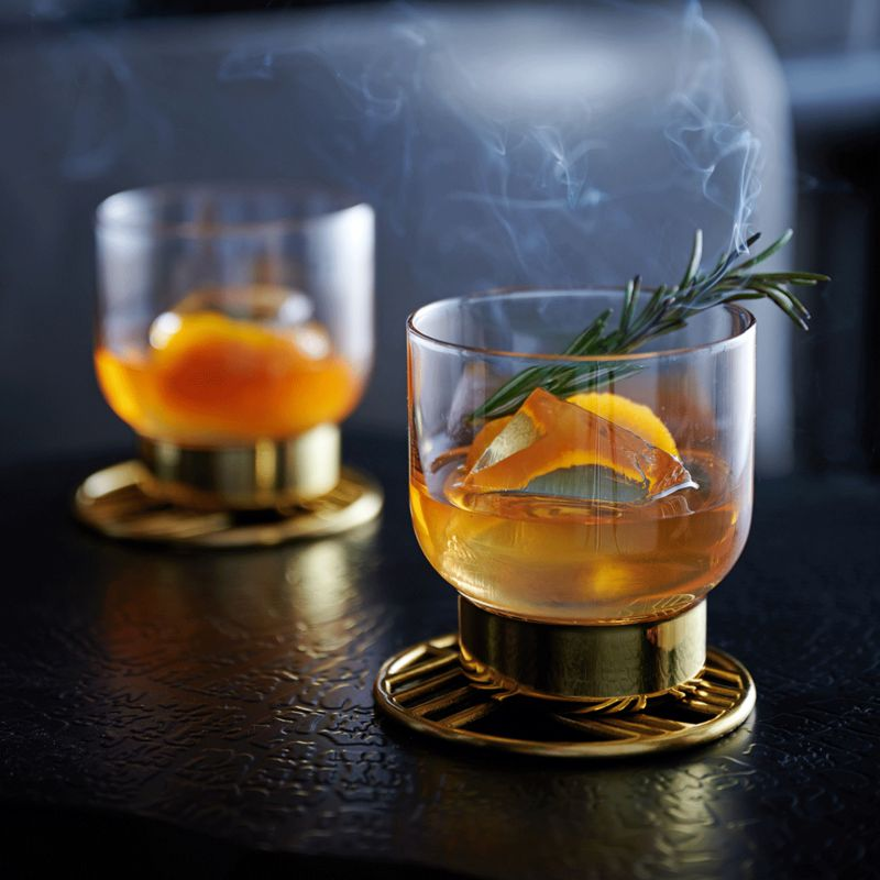 Smoky Old Fashioned winter cocktail recipe from Crate and Barrel.