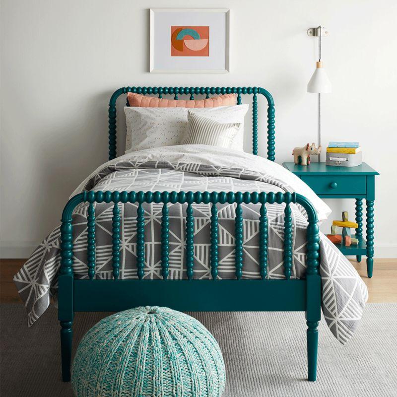 Teal Jenny Lind bed