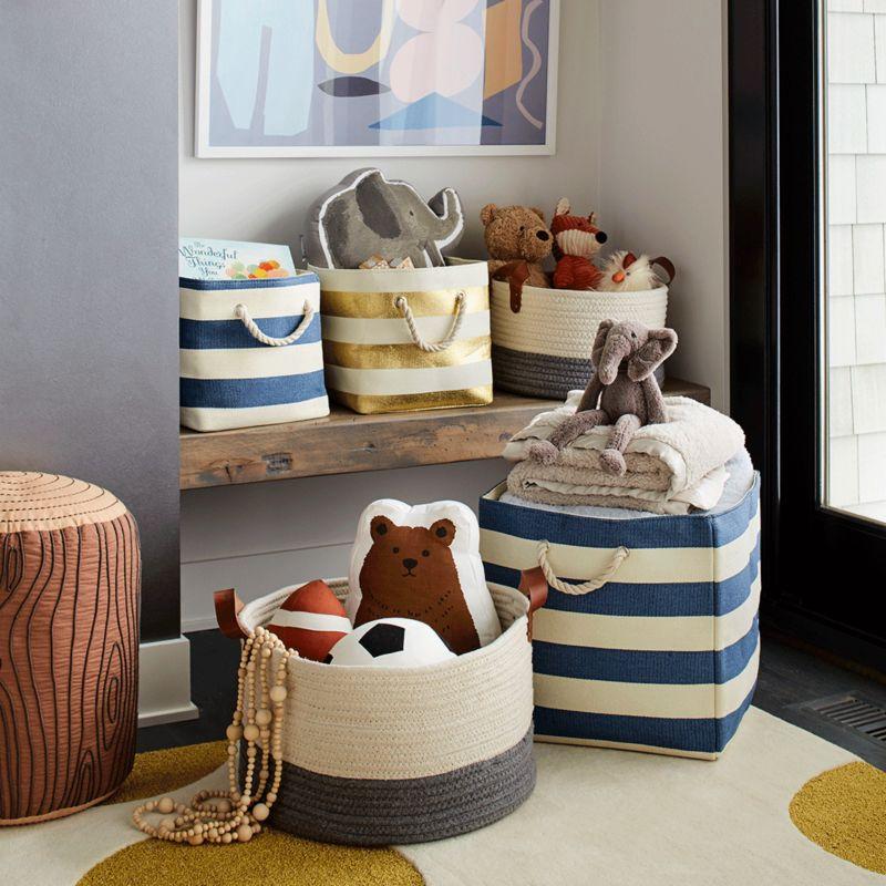 storage baskets with handles