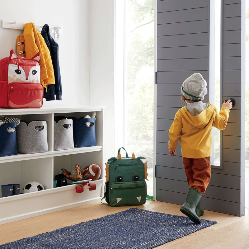 Modular storage cabinet with matching cube bins