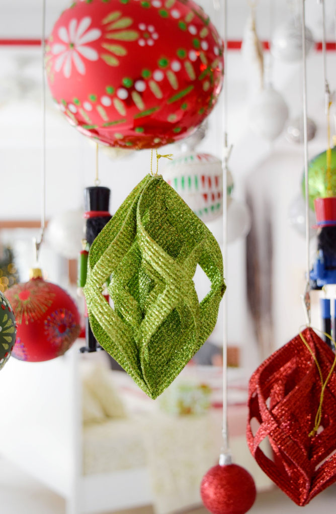 green christmas ornament - Crate And Barrel Christmas Decorations