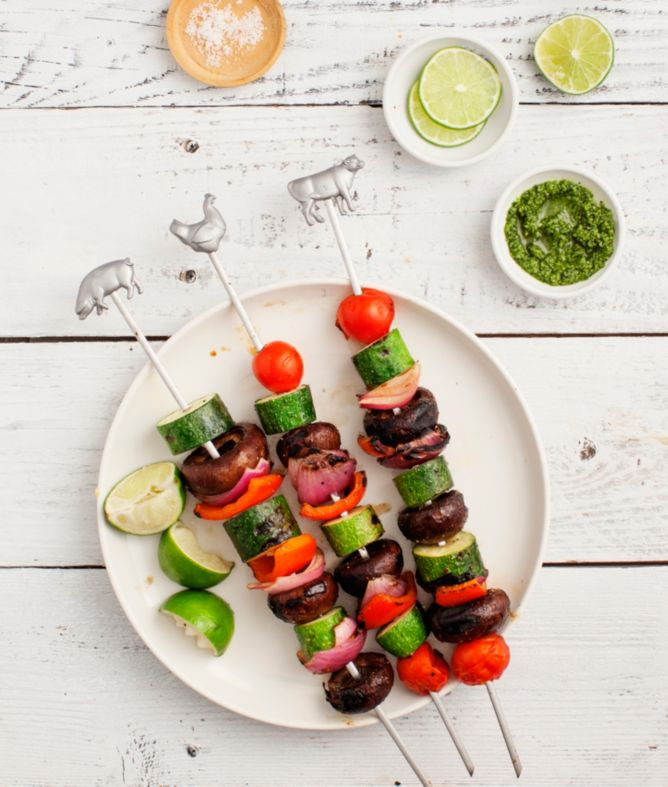 Homemade vegetable kebabs