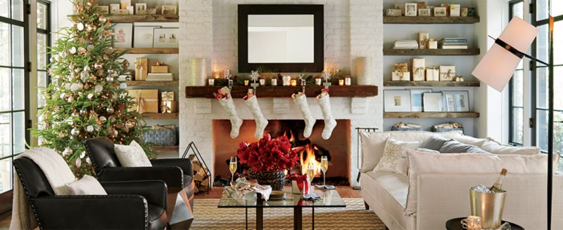 How To Decorate Your Home For Christmas Crate And Barrel