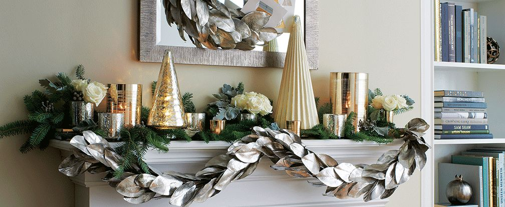 Christmas Mantel Ideas.Christmas Mantel Decorating Ideas Crate And Barrel