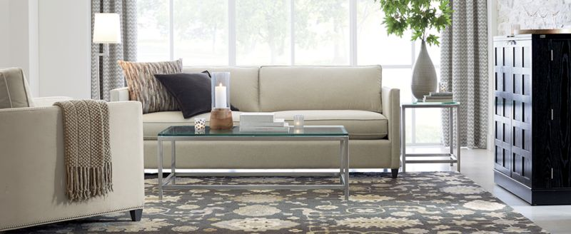 Assign floor and table l&s. & Living Room Layouts: How to Arrange Furniture | Crate and Barrel
