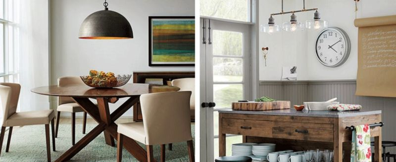 Lighting dining room table Wood Final Considerations Ballard Designs How To Choose And Hang Pendant Lamps Crate And Barrel