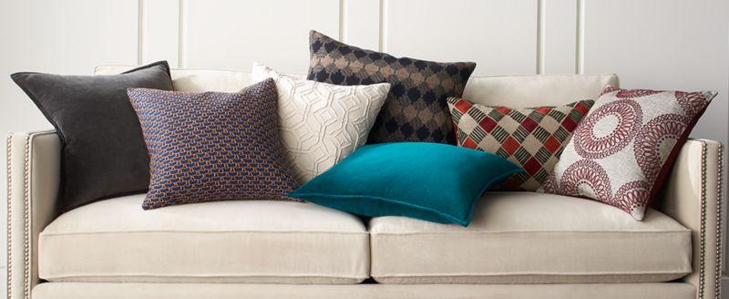 pillow ideas how to decorate with throw pillows crate and barrel rh crateandbarrel com  ikea throw pillows