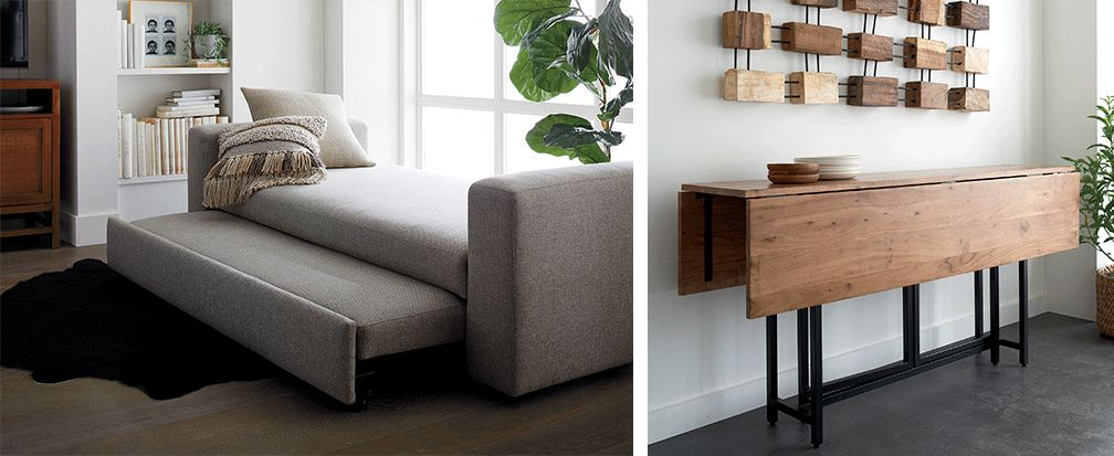 Small space furniture ideas crate and barrel - Gifts for small apartments ...