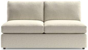 Lounge II Armless Loveseat shown in Taft, Cement