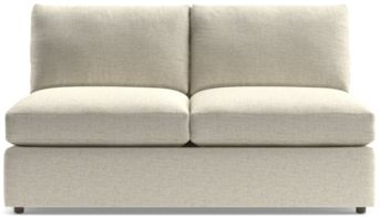Lounge II Armless Loveseat shown in Taft, Cement