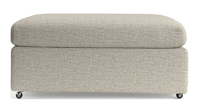 """Lounge II 37"""" Ottoman with Casters shown in Taft, Cement"""