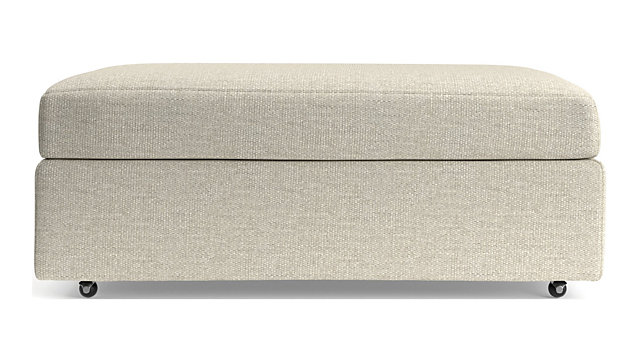 Lounge II Storage Ottoman with Casters shown in Taft, Cement