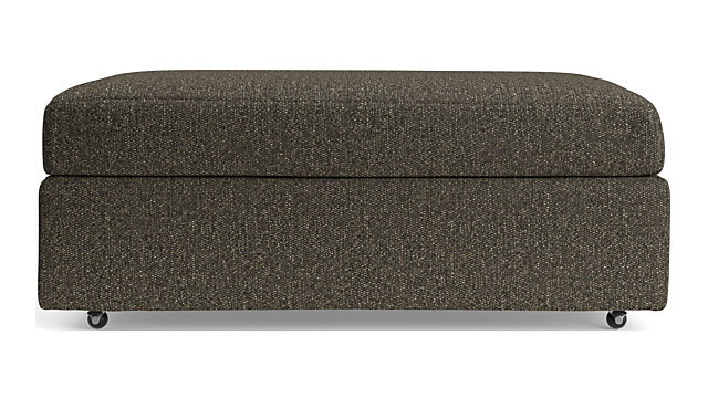 Lounge II Storage Ottoman with Casters shown in Taft, Truffle
