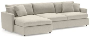 Lounge II 2-Piece Sectional Sofa (Left Arm Chaise, Right Arm Sofa) shown in Taft, Cement
