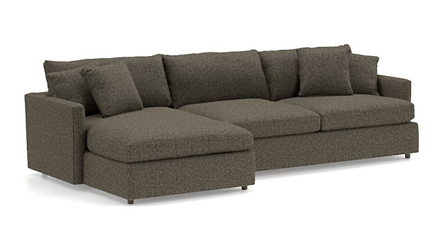 Lounge II 2-Piece Sectional Sofa (Left Arm Chaise, Right Arm Sofa) shown in Taft, Truffle