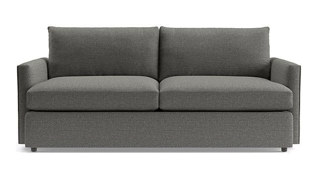 """Lounge II 83"""" Sofa shown in Taft, Steel"""
