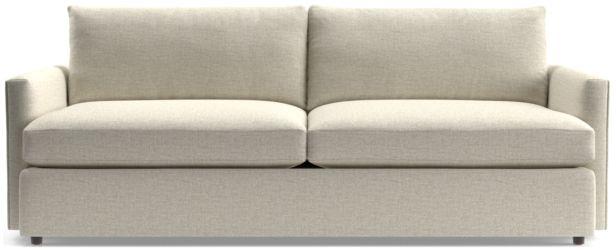 """Lounge II 93"""" Sofa shown in Taft, Cement"""