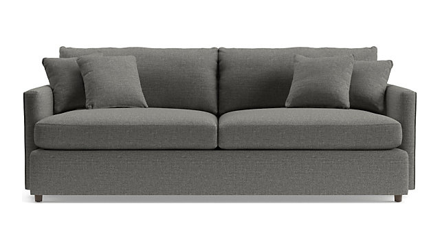 "Lounge II 93"" Sofa shown in Taft, Steel"