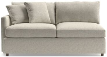 Lounge II Left Arm Apartment Sofa shown in Taft, Cement