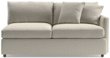 Lounge II Right Arm Apartment Sofa shown in Taft, Cement