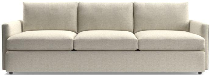 """Lounge II 3-Seat 105"""" Grande Sofa shown in Taft, Cement"""
