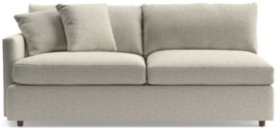 Lounge II Left Arm Sofa shown in Taft, Cement