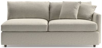 Lounge II Right Arm Sofa shown in Taft, Cement