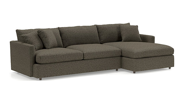 Lounge II 2-Piece Sectional Sofa + Reviews   Crate and Barrel