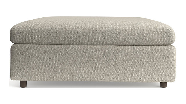Lounge II Square Cocktail Ottoman shown in Taft, Cement