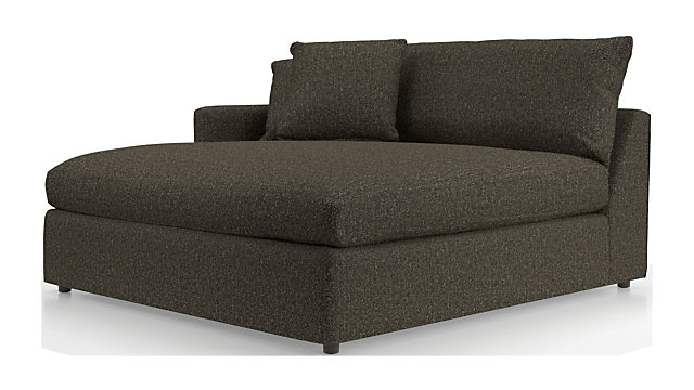 Lounge II Left Arm Double Chaise shown in Taft, Truffle