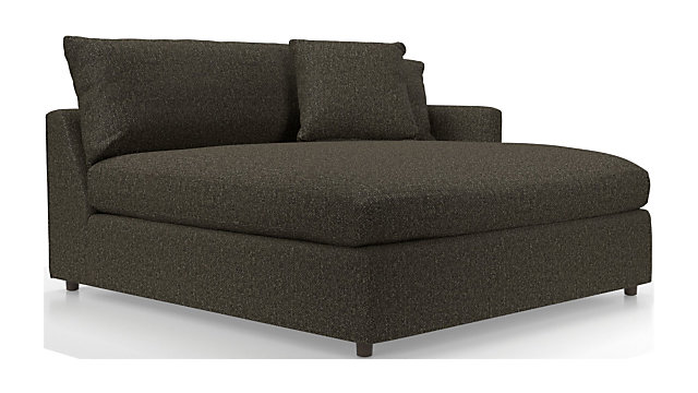 Lounge II Right Arm Double Chaise shown in Taft, Truffle