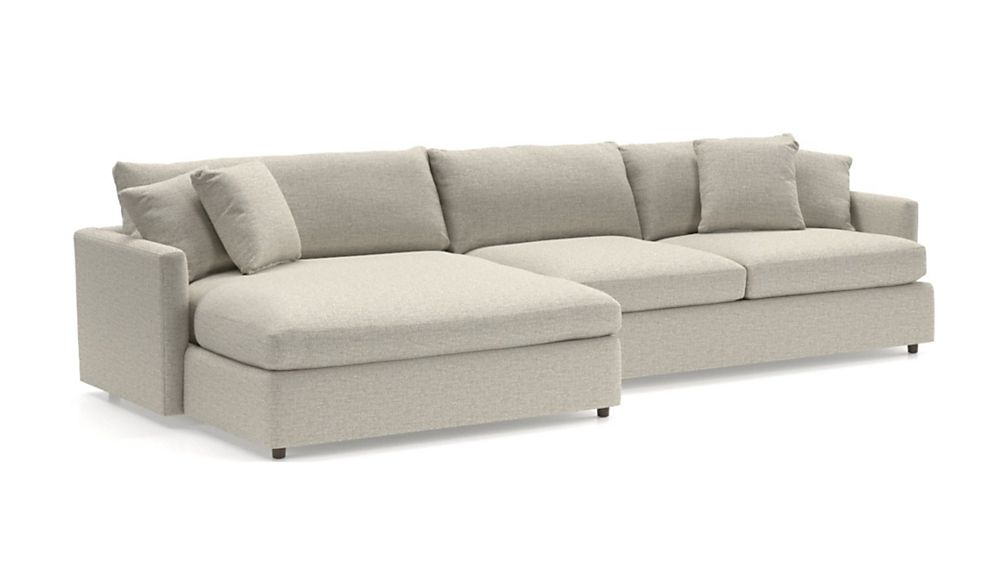 Lounge II 2-Piece Left Arm Double Chaise Sectional Sofa - Image 2 of 5
