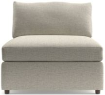 """Lounge II Armless 37"""" Chair shown in Taft, Cement"""