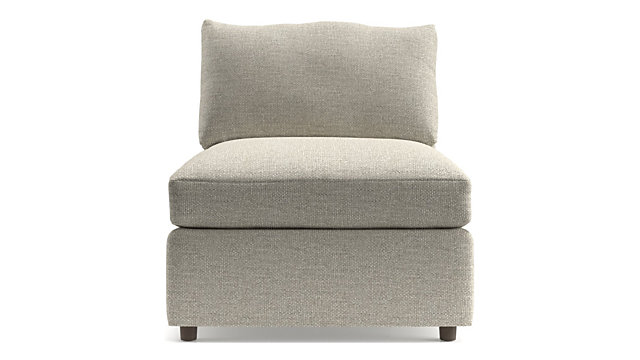 "Lounge II Armless 32"" Chair shown in Taft, Cement"