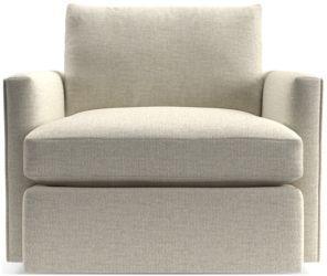 Lounge II 360 Swivel Chair shown in Taft, Cement