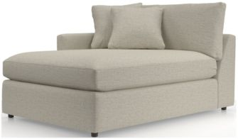 Lounge II Left Arm Sectional Chaise shown in Taft, Cement