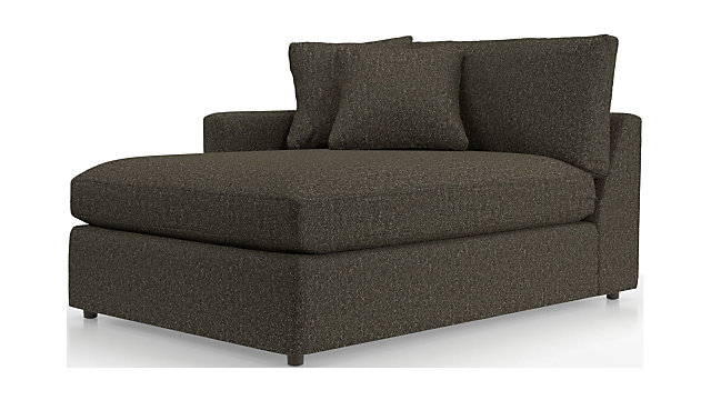 Lounge II Left Arm Chaise Lounge shown in Taft, Truffle