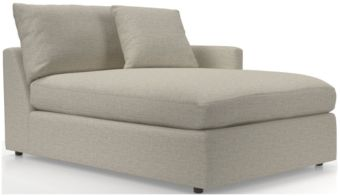 Lounge II Right Arm Sectional Chaise shown in Taft, Cement