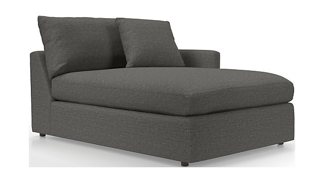 Lounge II Right Arm Chaise Lounge shown in Taft, Steel