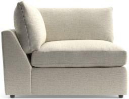 Lounge II Corner Chair shown in Taft, Cement