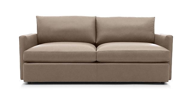 """Lounge II Leather 83"""" Sofa shown in Lavista, Smoke"""